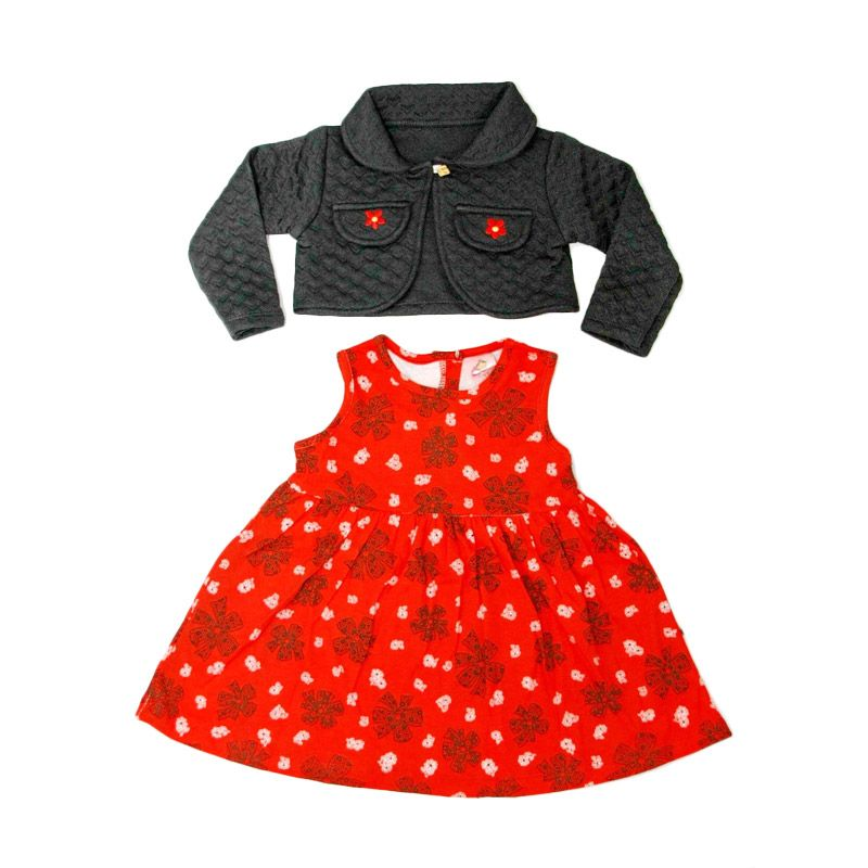 Nathanie Baby Lovely Flower Black Dress Anak