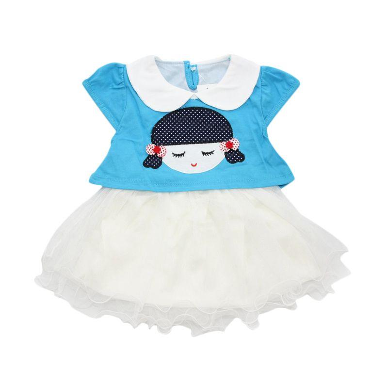 Nathanie Baby Mary Blue Dress Anak