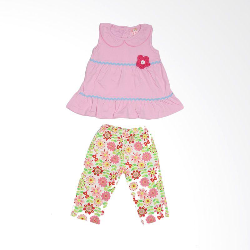 Nathanie Baby My Flower Pink Setelan Anak