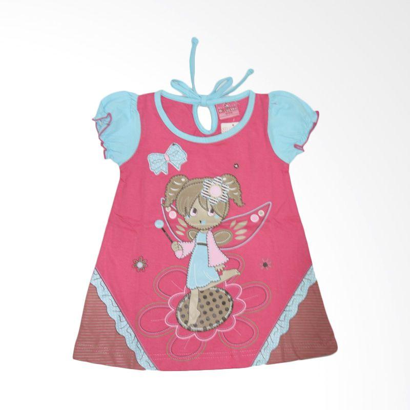 Nathanie Baby Peri Pink Dress Anak