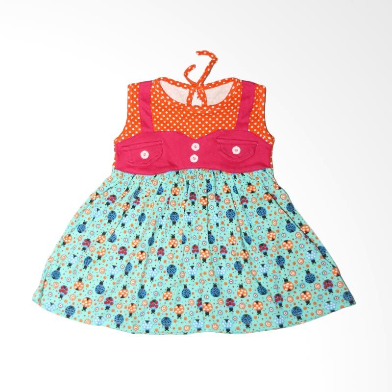 Nathanie Baby Retro Green Dress Bayi