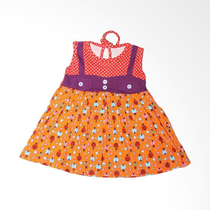 Nathanie Baby Retro Orange Dress Bayi