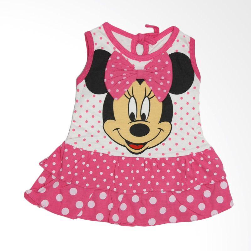 Nathanie Baby Ribbon Mini Pink Fanta Dress Anak