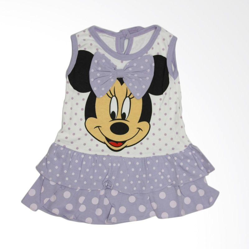 Nathanie Baby Ribbon Mini Purple Dress Anak