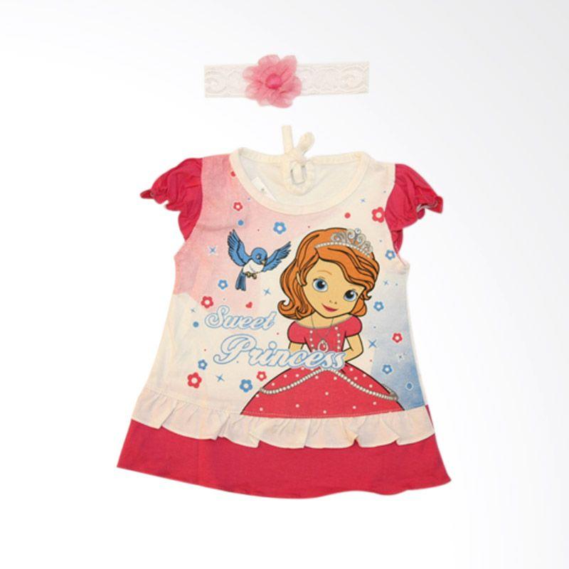 Nathanie Baby Sweet Princess Pink Dress Bayi