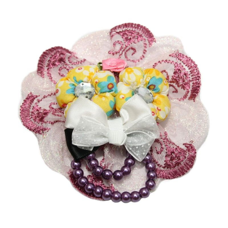 Nathanie 2 Flower Rainbow Lace Purple Bros