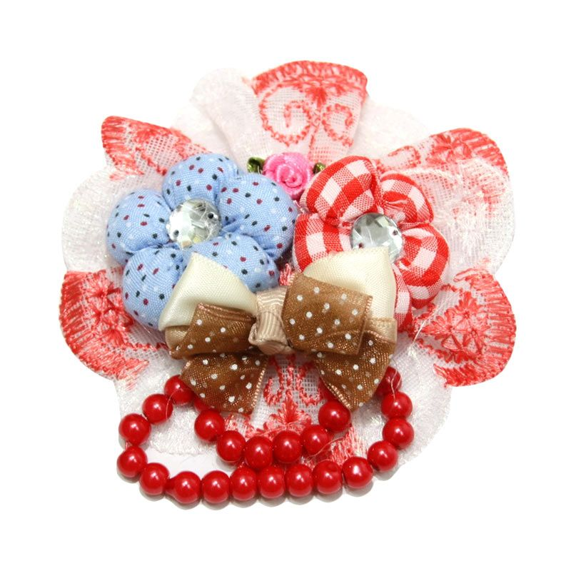 Nathanie 2 Flower Rainbow Lace Red Bros