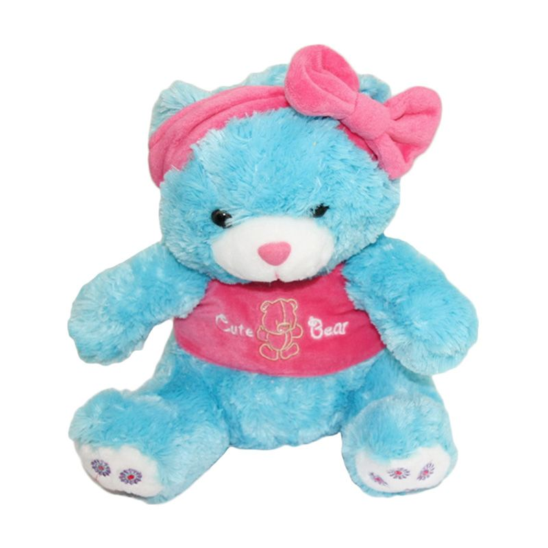 Nathanie Cute Bear with bandana Boneka