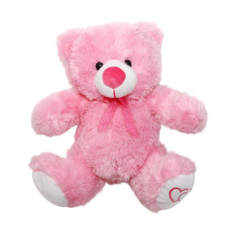 Nathanie Cute Bear Pink Boneka