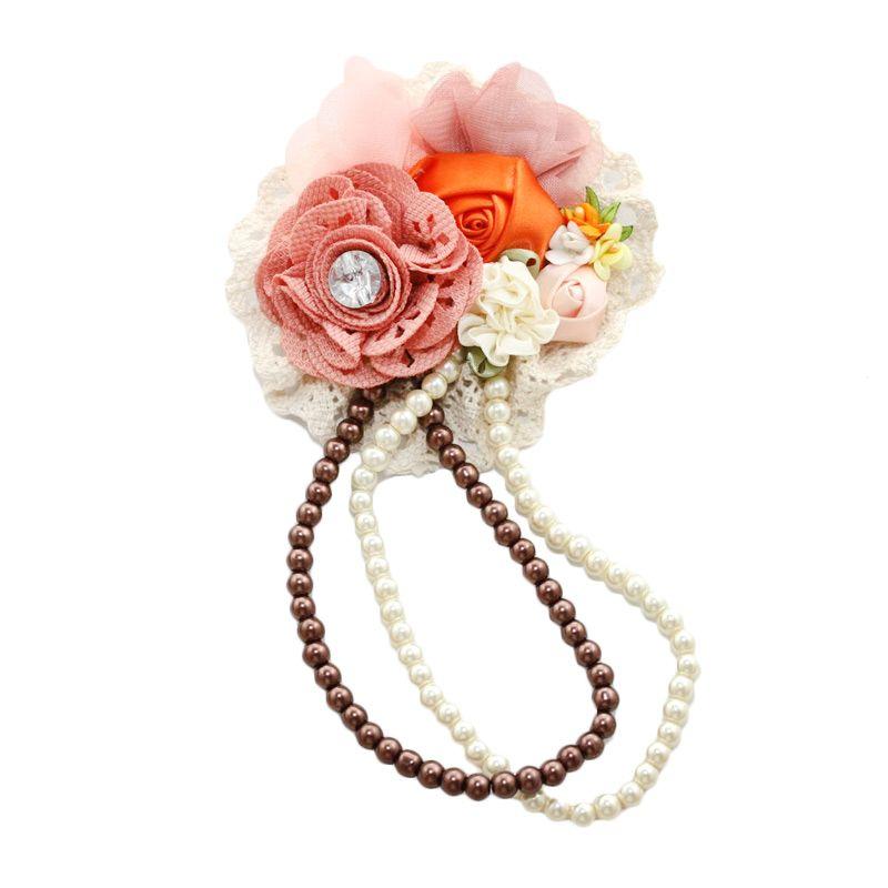 Nathanie Flower Charm Peach Bros