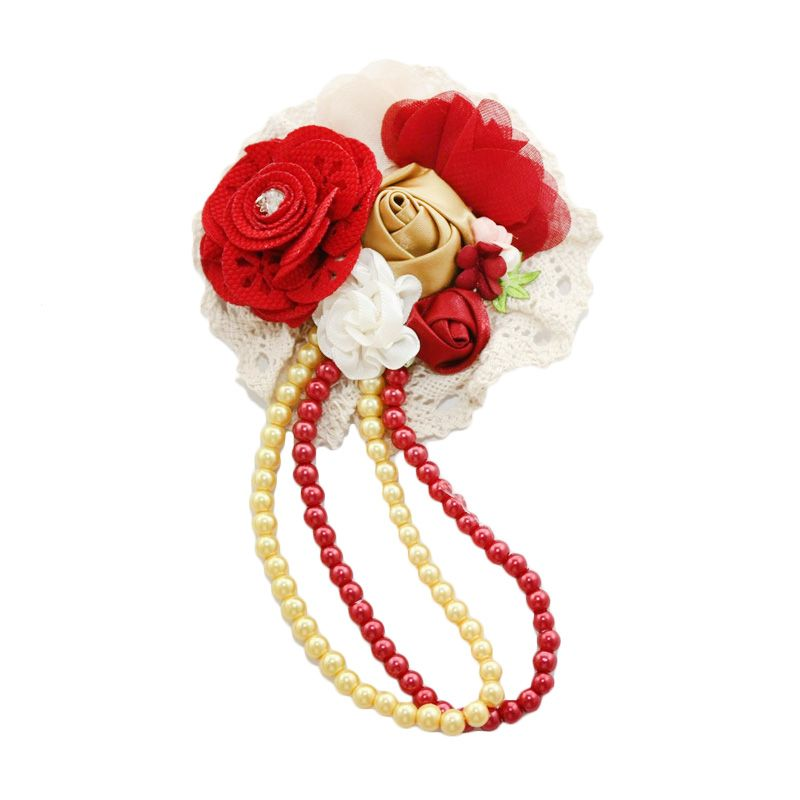 Nathanie Flower Charm Red Bros