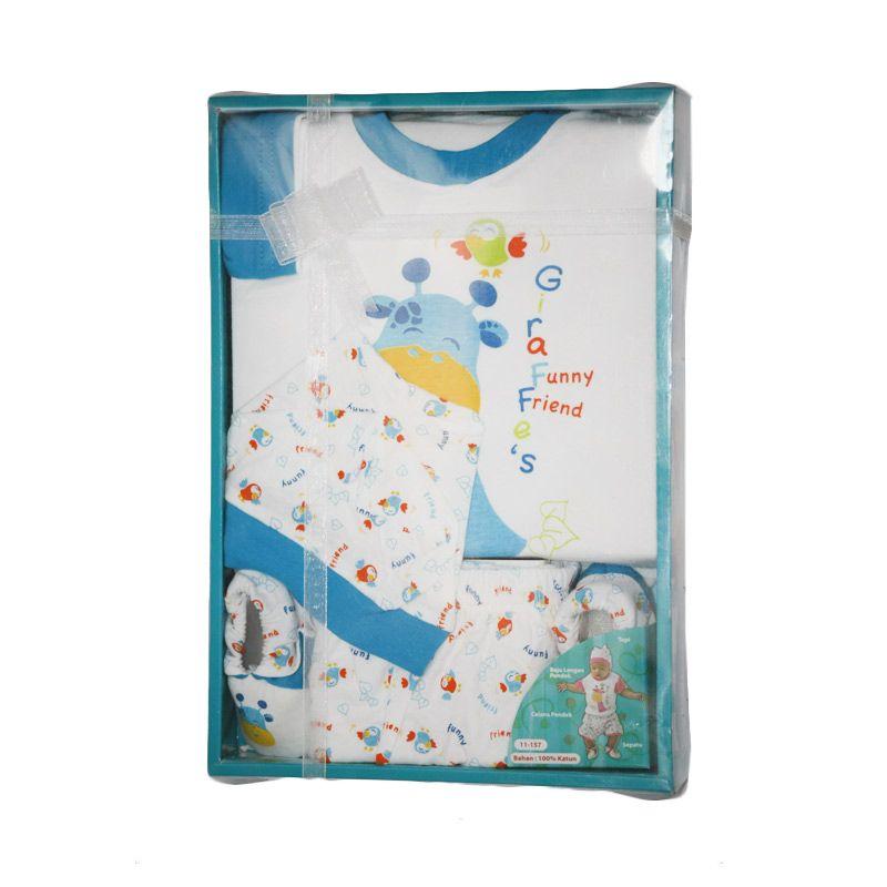 Nathanie Giraffe Blue Baby Set