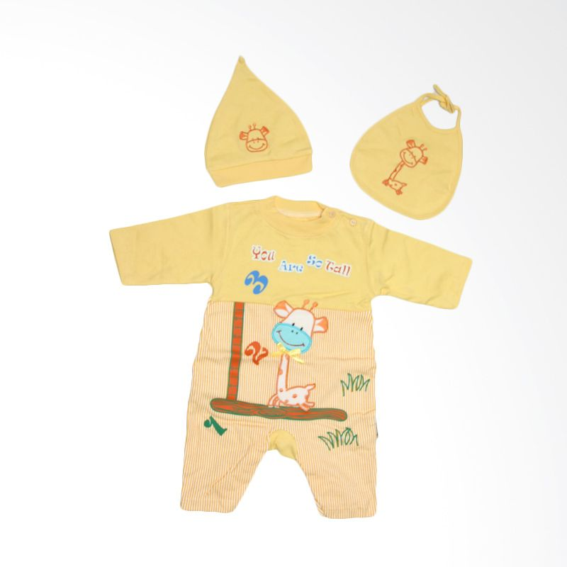 Nathanie Little Giraffe Yellow Jumpsuit Bayi