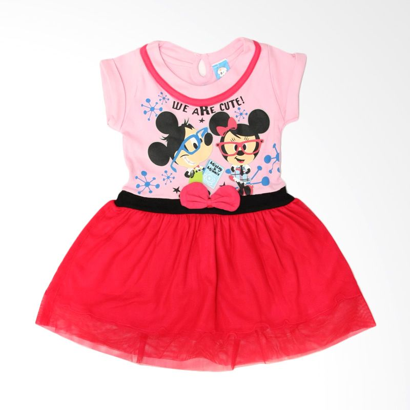 Nathanie Mini Pom Pink Dress Bayi