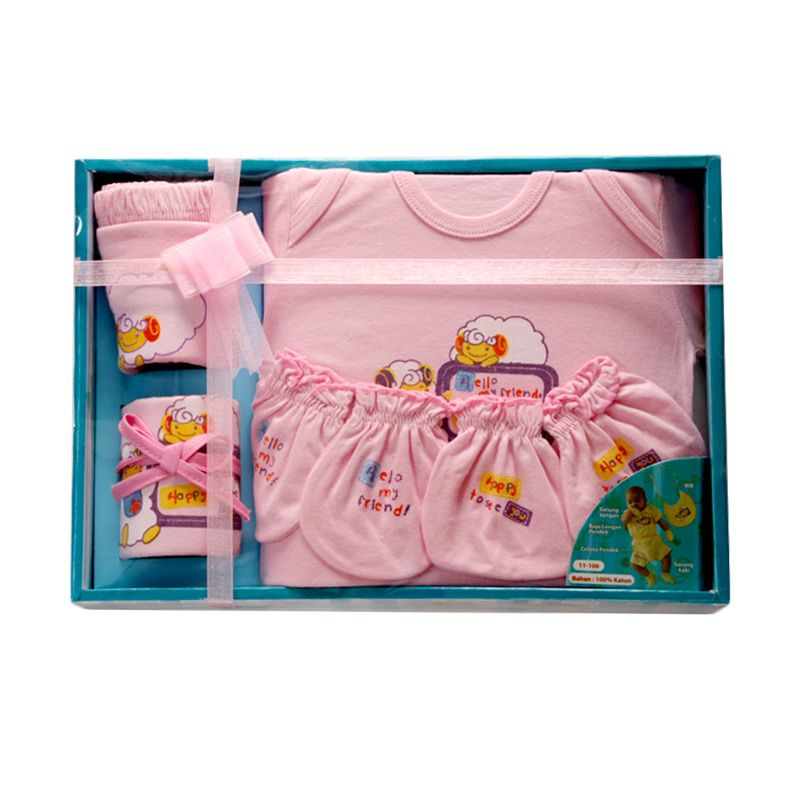 Nathanie My Friend Pink Pakaian Bayi [Gift Set]
