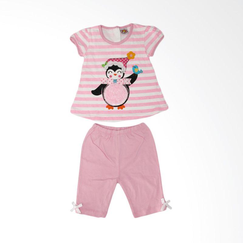 Nathanie Penguin Pink Setelan Bayi