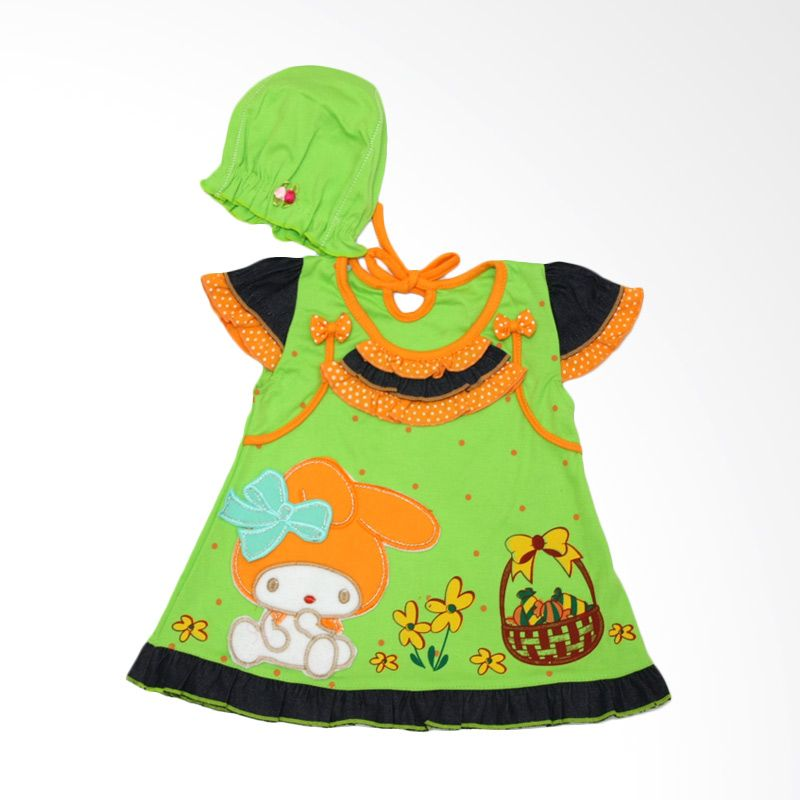 Nathanie Sansan Green Dress Bayi