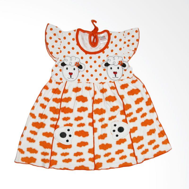 Nathanie Sheep Orange Dress Bayi