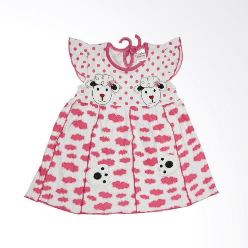 Nathanie Sheep Pink Dress Bayi