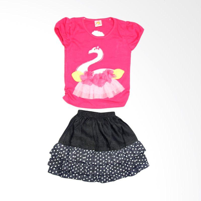 Nathanie Swan Pink Fanta Setelan Anak