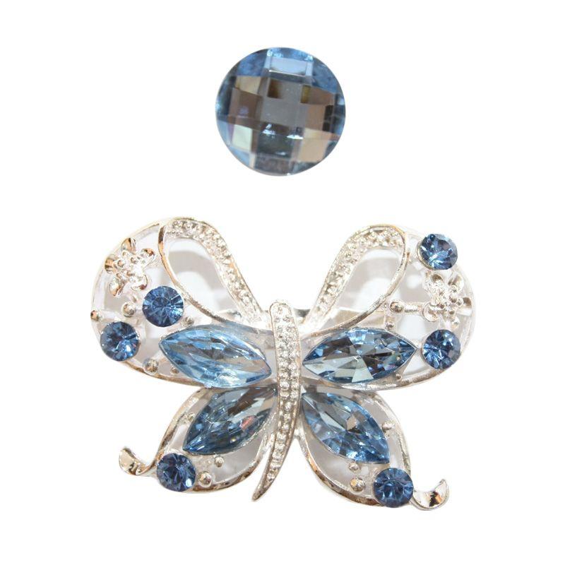Nathanie Zircon Butterfly White Blue Bros