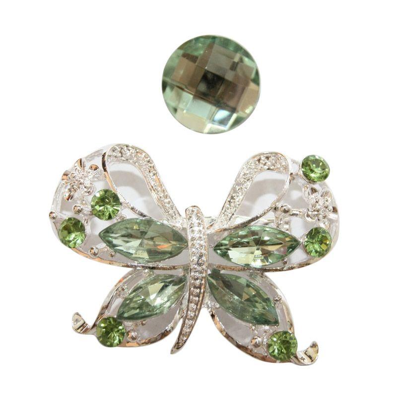 Nathanie Zircon Butterfly White Green Bros