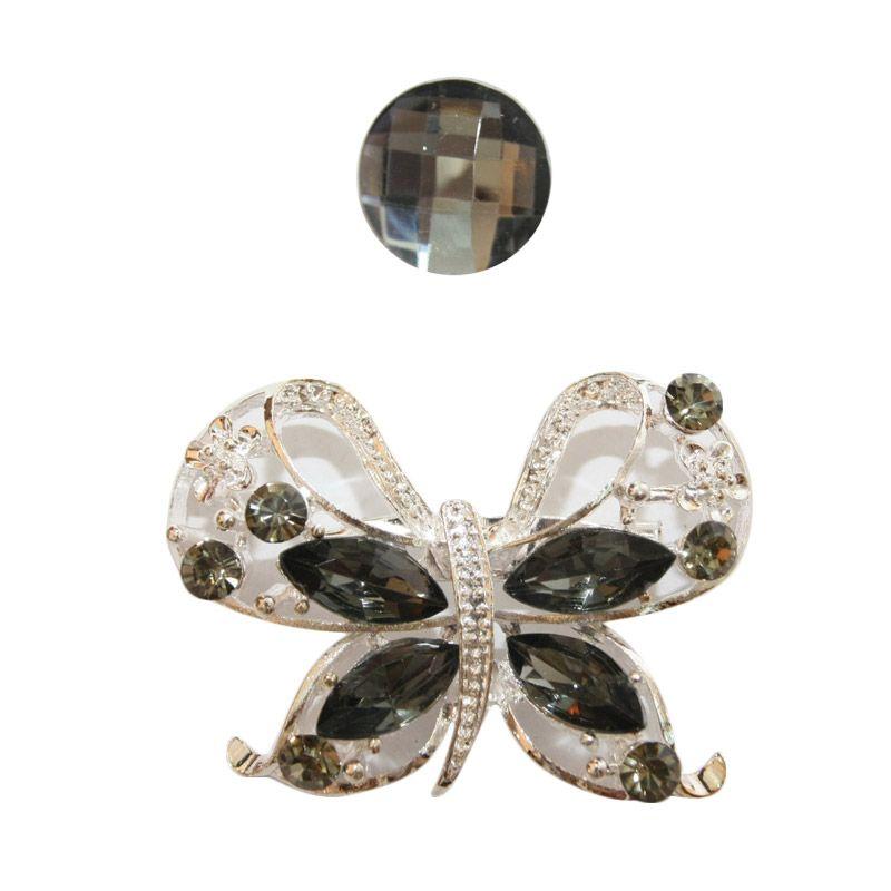 Nathanie Zircon Butterfly White Grey Bros