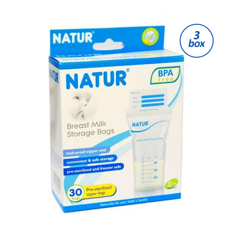 Natur Breast Milk Storage Bags Kantong ASI [30 pcs/3 box]