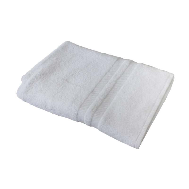 Natural Chalmer Handuk Mandi Polos - Putih [70 x 140 cm]