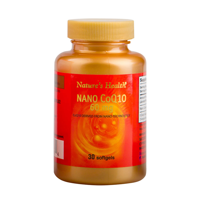 Nature's Health NANO COQ10 60 mg Suplemen [30 Softgels]