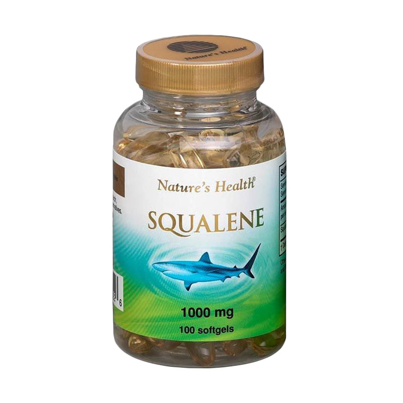 Nature's Health Squalene 1000 MG Suplemen Kesehatan [100 Softgels]