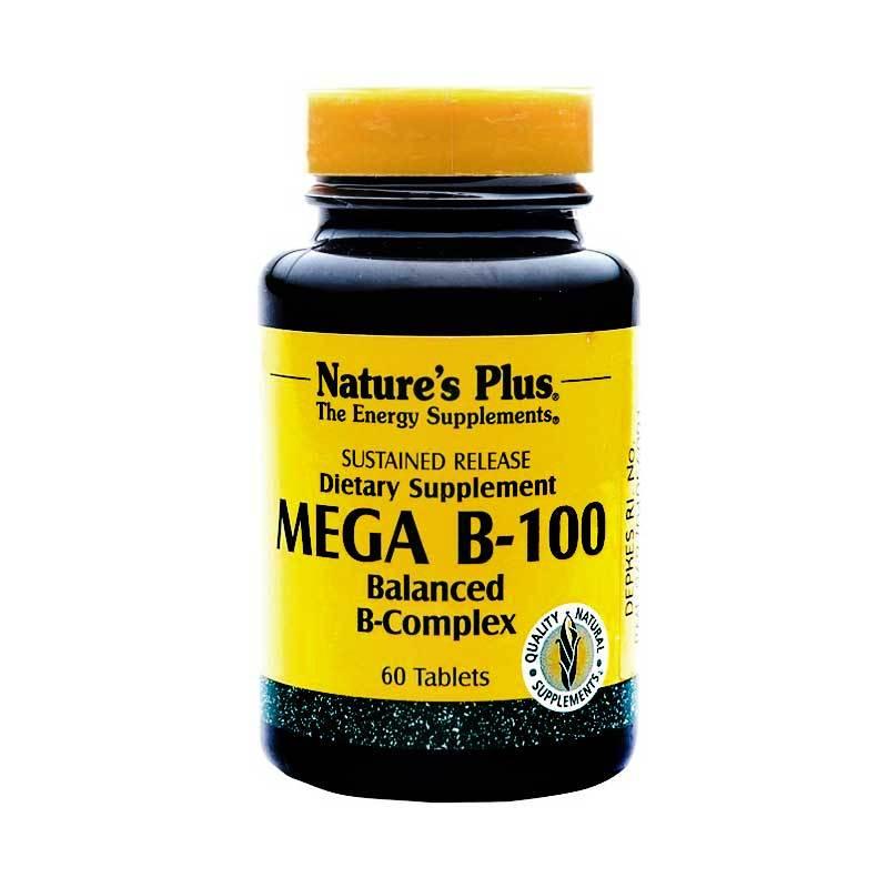 Nature's Plus Mega B-100 S/R (60 Tablets)