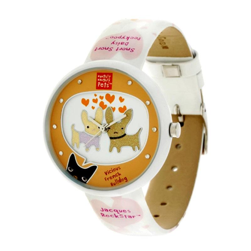Naughty Naughty Pets NNP-67D Jam Tangan Anak - White