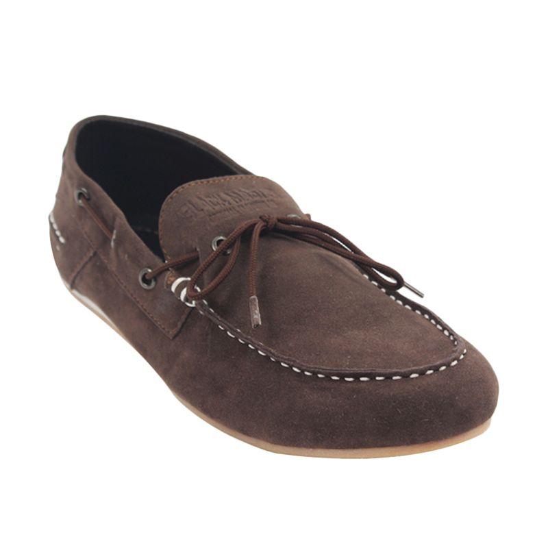 Black Master Flat Slip On Pitou Brown Sepatu Pria