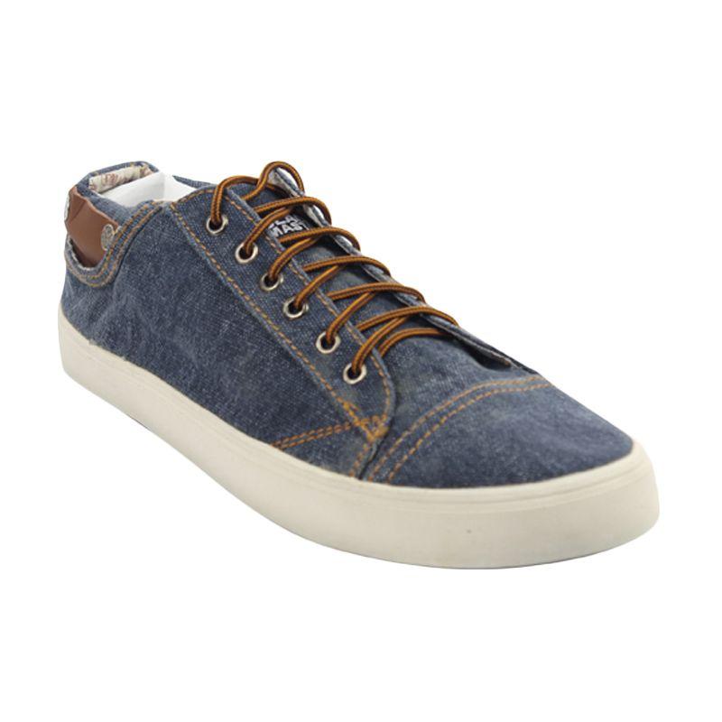 Black Master Sneaker Denim Blue Sepatu Pria