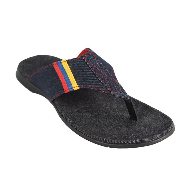 Catenzo Blue Denim Sandal Pria