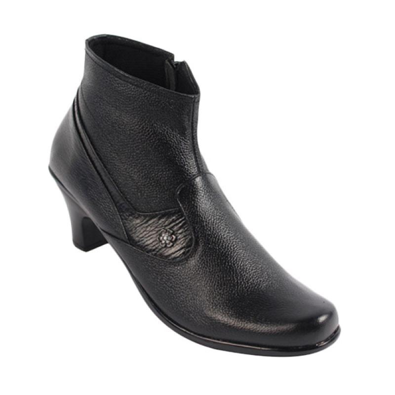 Catenzo Boots Heels Sweet Black Sepatu Wanita
