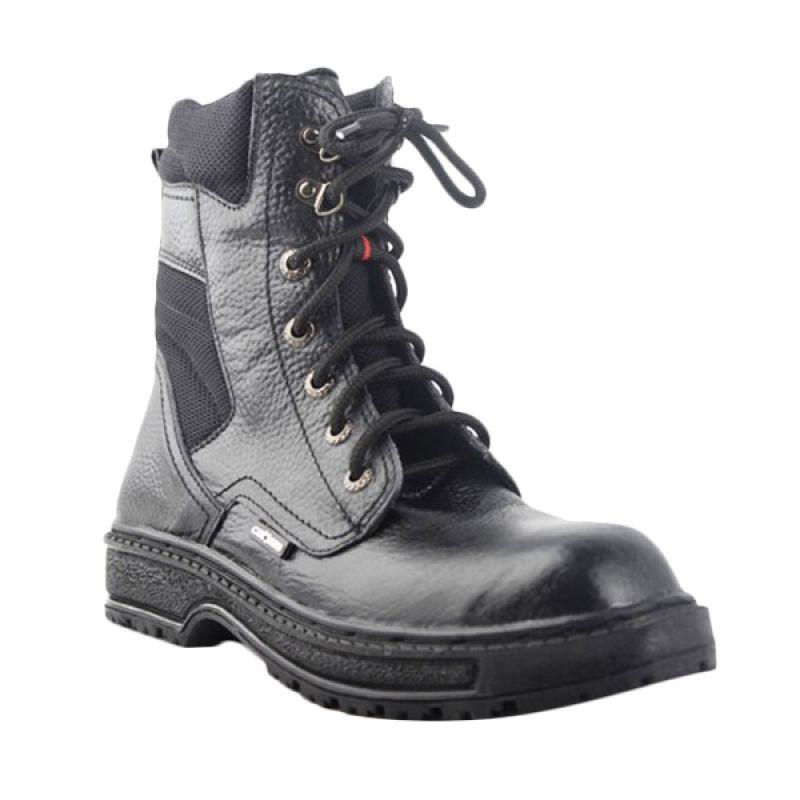 Catenzo Leather Black For Rider Sepatu Boots Pria
