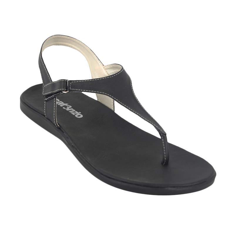 Catenzo Flat Fully Black Sepatu Wanita