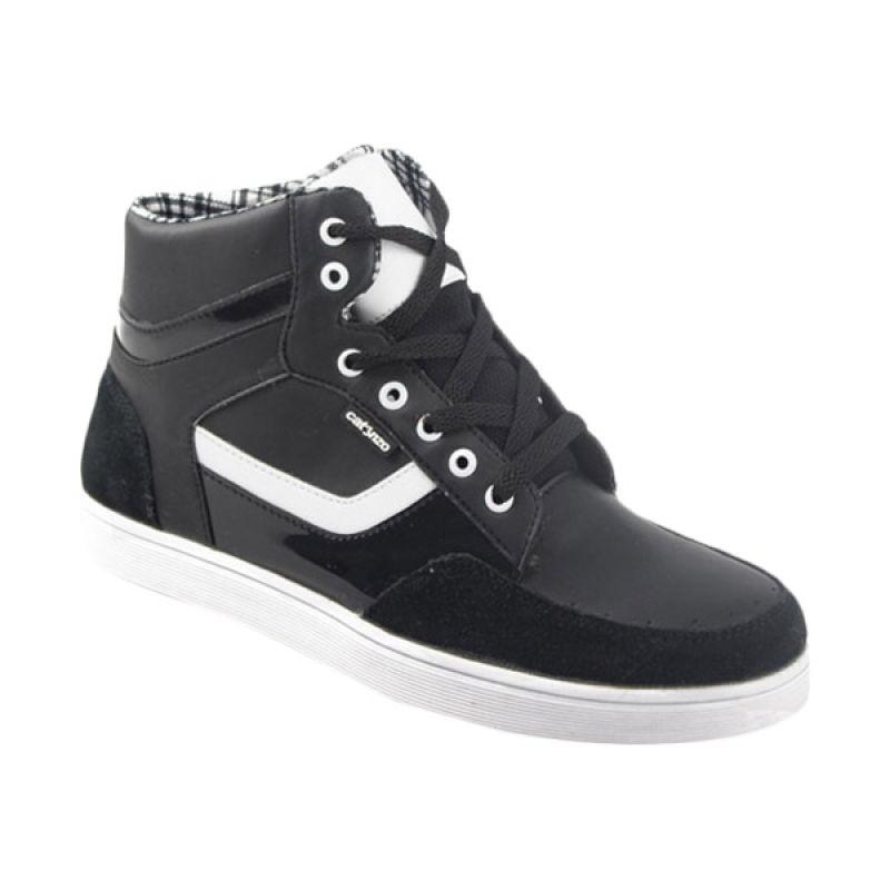 Catenzo High Black White Sepatu Pria
