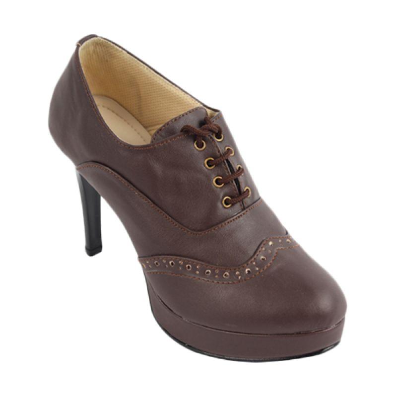 Catenzo High Heels Brown Sepatu Wanita