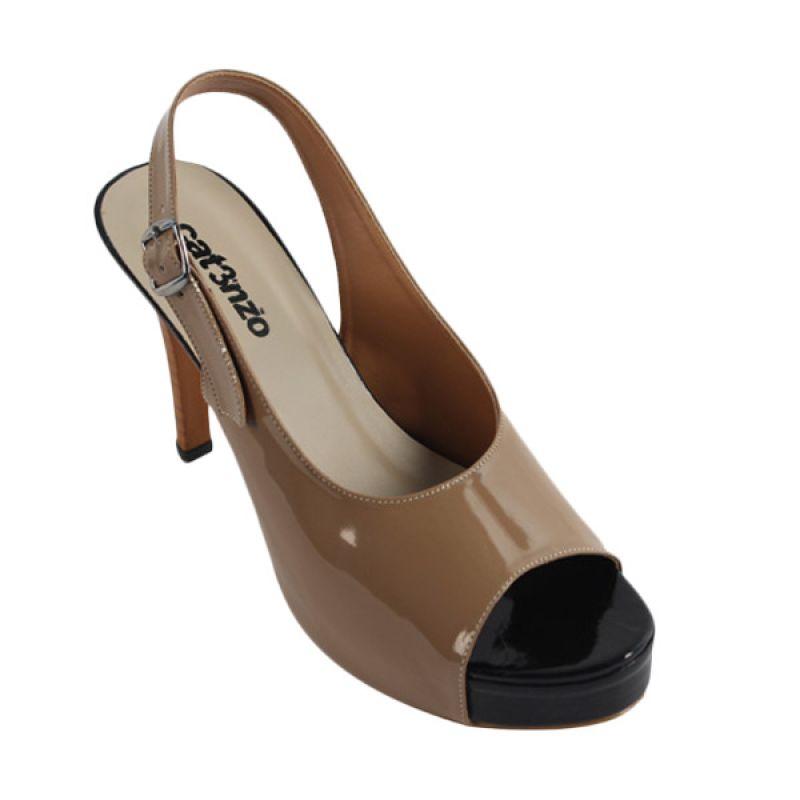 Catenzo High Heels Dark Cream Sepatu Wanita