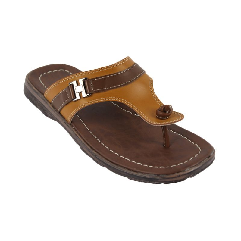 Catenzo Knucky Dark Tane Men Sandal Pria