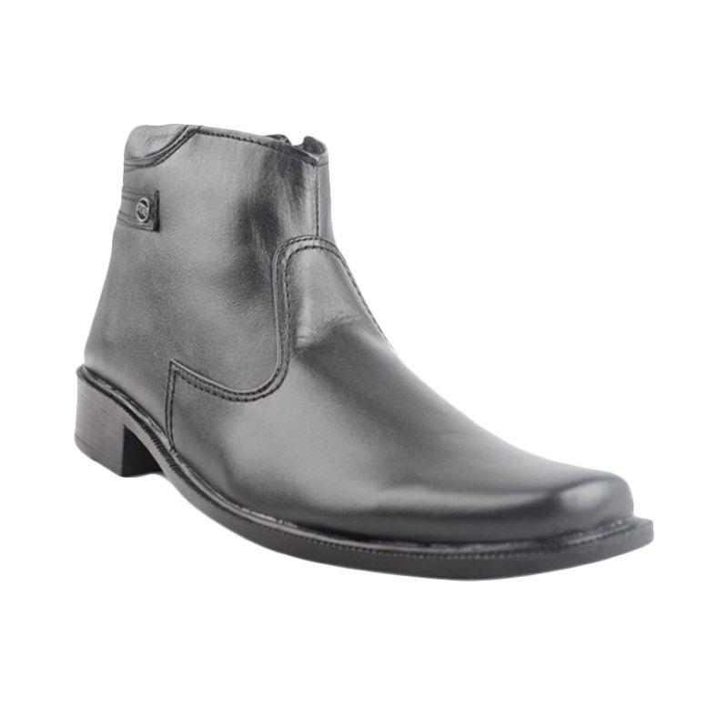 Catenzo Half Blacky Black Sepatu Boots Pria