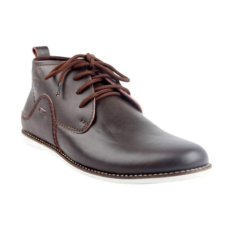 Catenzo Leather Brown Sepatu Pria