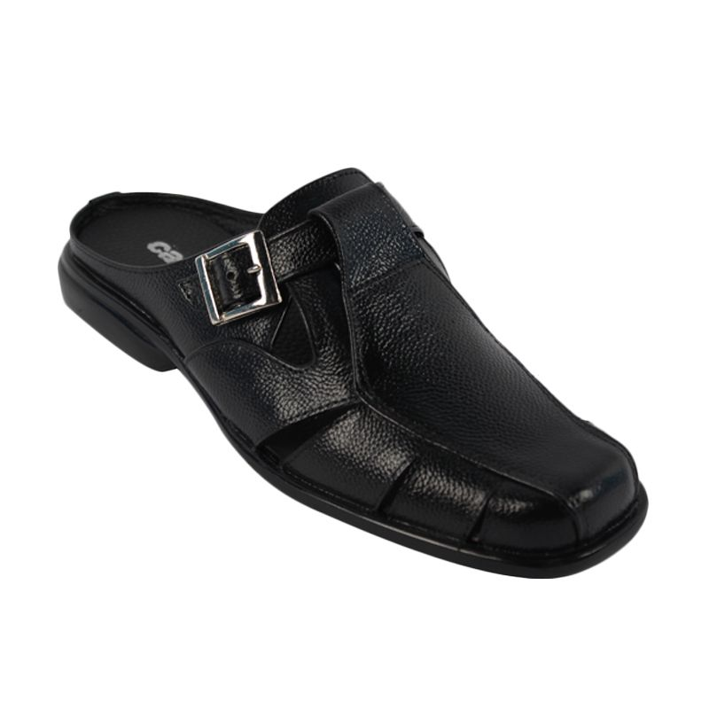 Catenzo Slip On Origin Knock Black Sepatu Pria