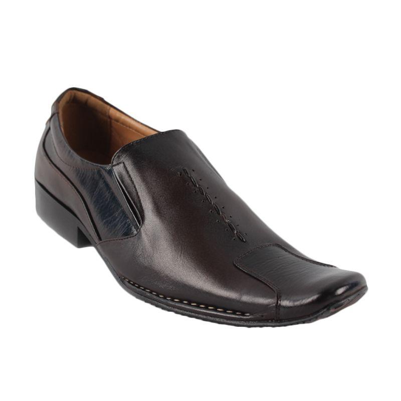 Catenzo Pantofel Classic Dark Brown Sepatu Pria