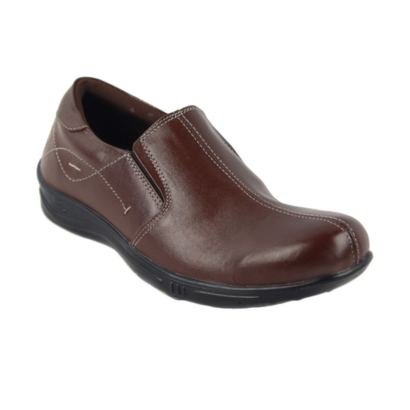 Catenzo Pantofel Slip-On Hard Brown Sepatu Pria