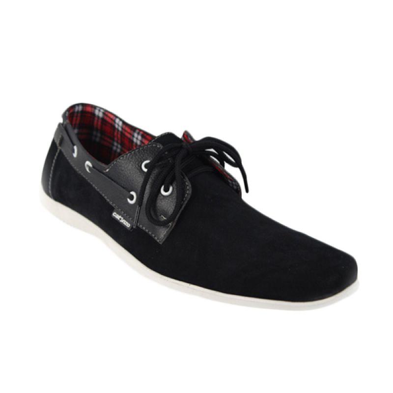 Catenzo Simple Flat Classic Black Sepatu Pria