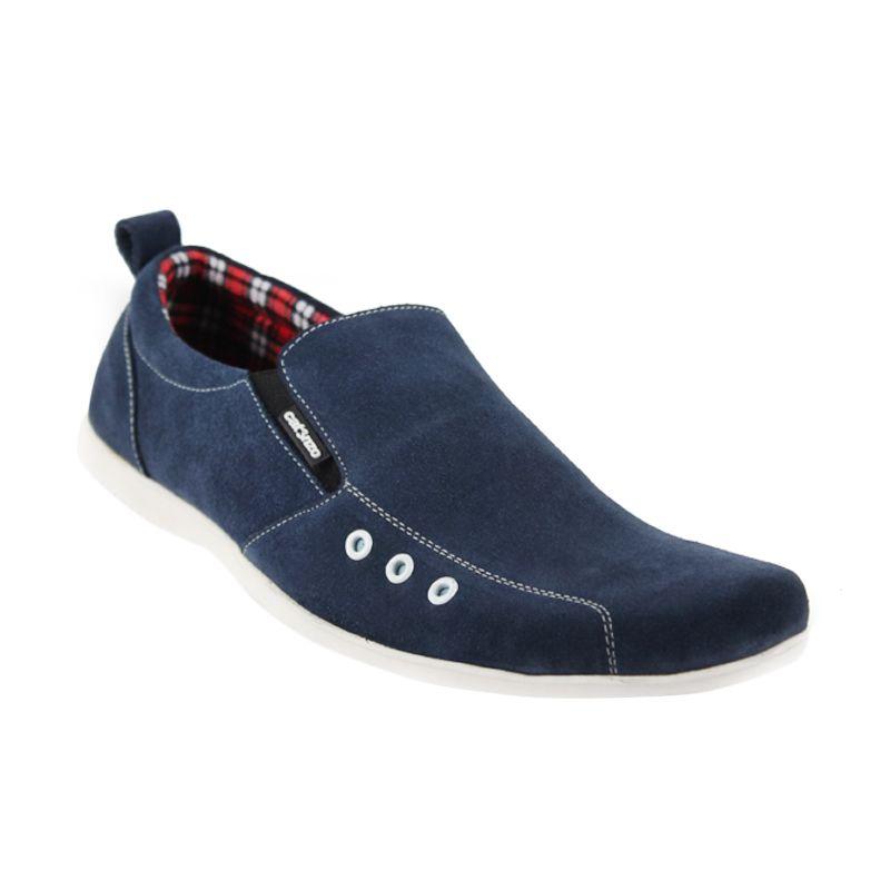 Catenzo Simple Flat Classic Blue Sepatu Pria